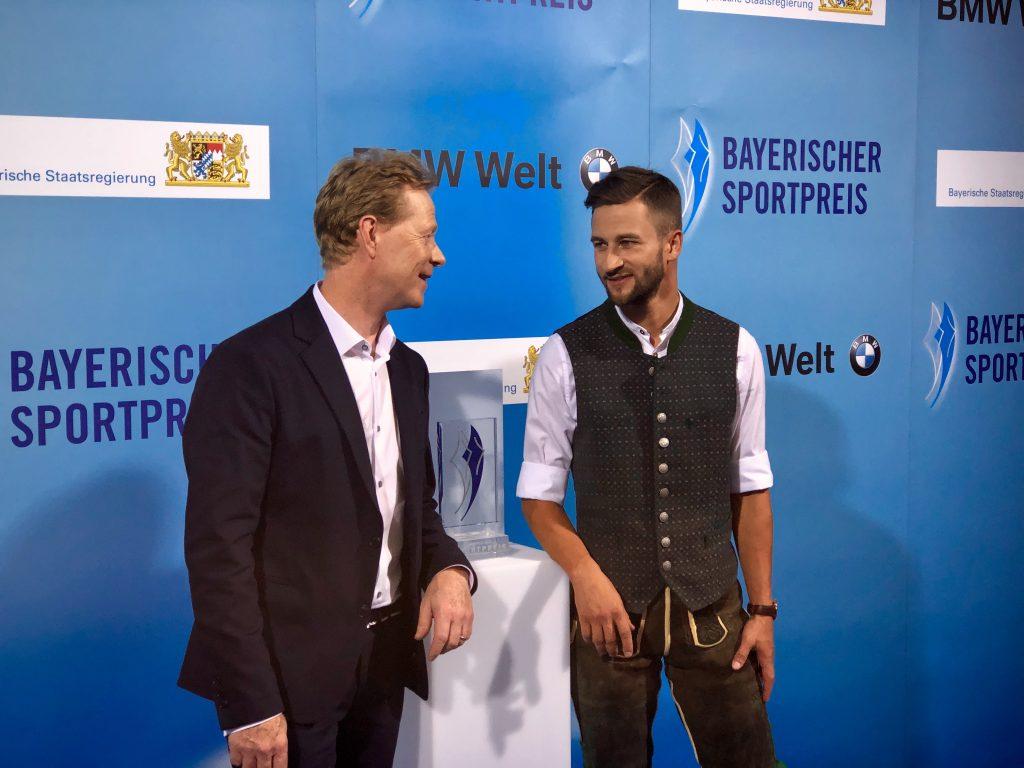 Dieter Thoma war Laudator für Skispringer Markus Eisenbichler.