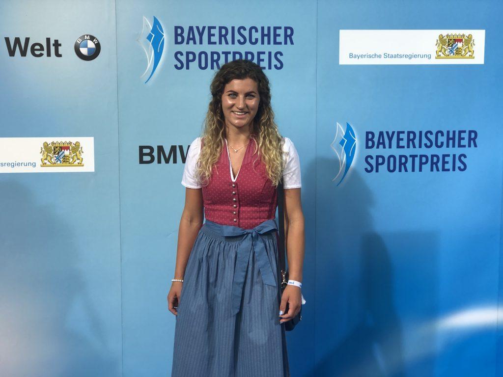 Snowboarderin Ramona Hofmeister, Olympia Bronzegewinnerin.