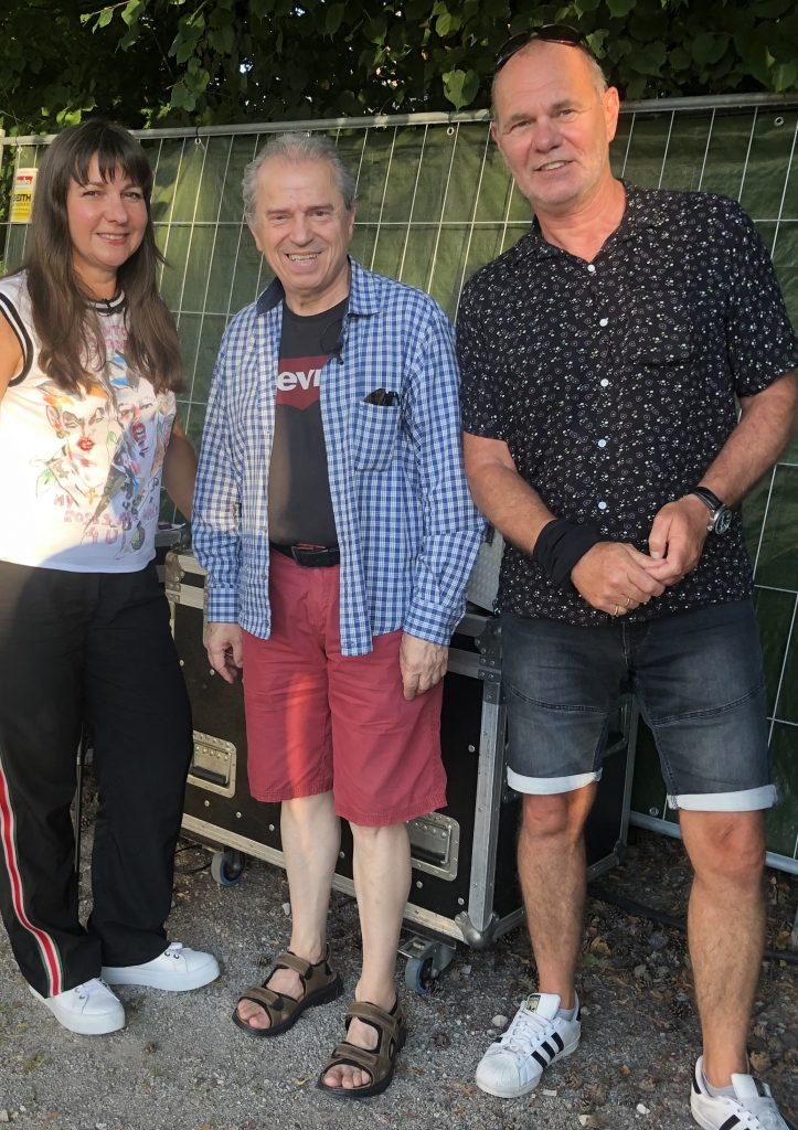 Mit Günther Sigl und Lothar Schlessmann (re.)