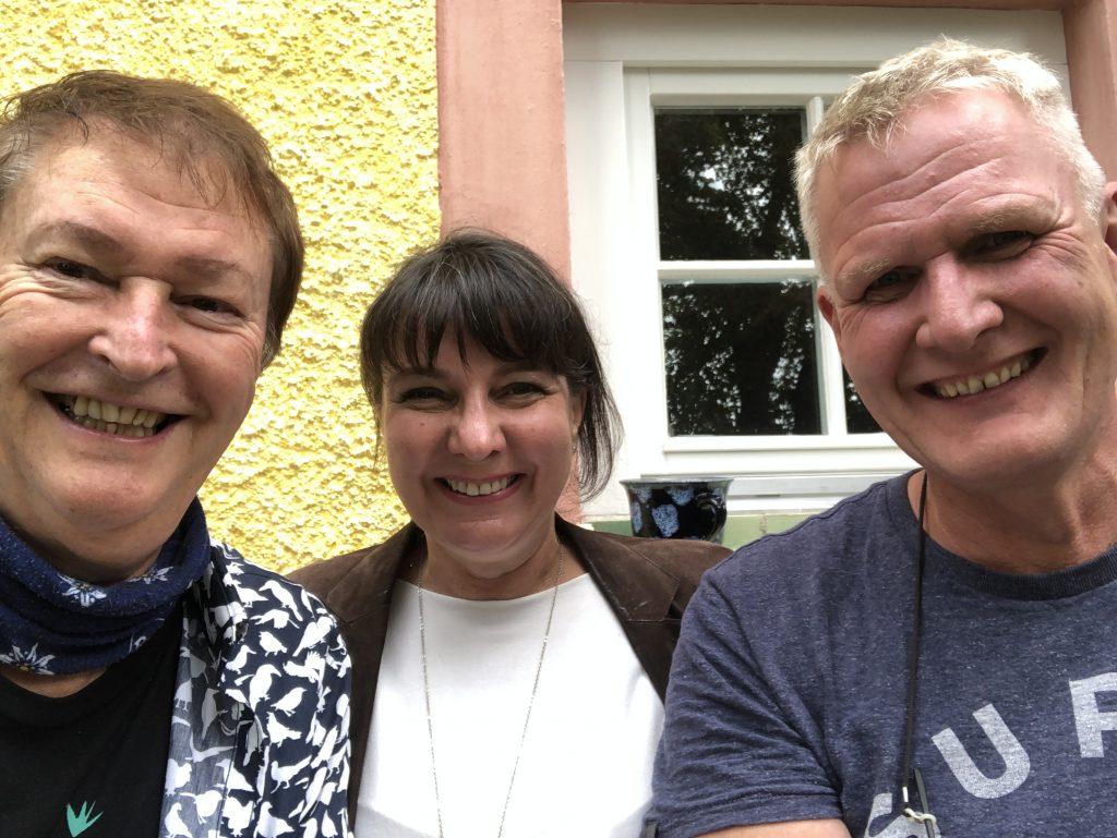 Was für ein Tag bei Haindling für mich und Producer Timo Reischl (re.)